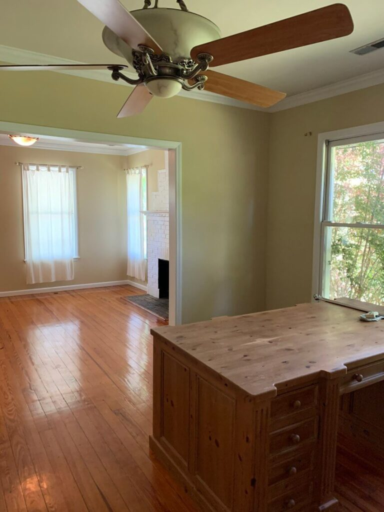 Dining room before reno